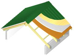 Exposed roof structure and deck